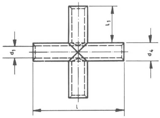 Kruisconnector 4 mm² Ongeïsoleerd Metaal Klauke KV4 1 stuks