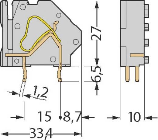 Veerkachtklemblok 16.00 mm² Aantal polen 2 WAGO Grijs 1 stuks
