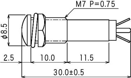 Standaard signaallampen 12 V/AC Rood Sedeco Inhoud: 1 stuks