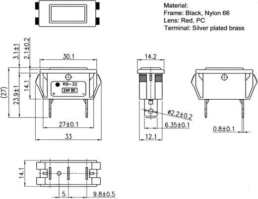 Signaallamp 24 V/DC Rood SCI Inhoud: 1 stuks