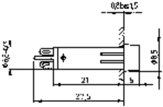 Signaallampjes met lampje max. 230 V Geel (transparant) RAFI Inhoud: 1 stuks