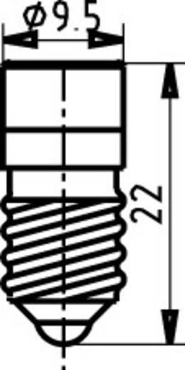 Signal Construct MWCE22149 LED-lamp E10 Geel 24 V/DC, 24 V/AC
