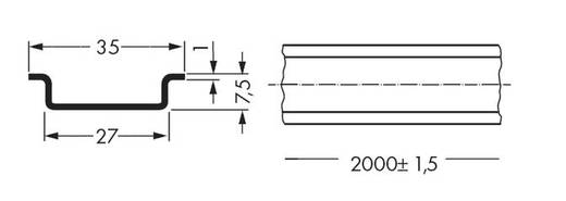 WAGO 210-113 Stalen draagrail 10 stuks