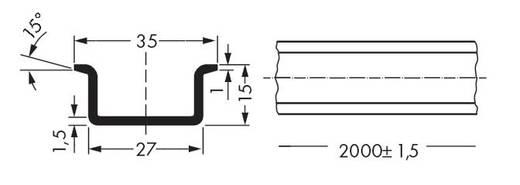 WAGO 210-114 Stalen draagrail 10 stuks