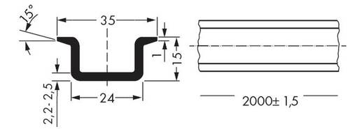 WAGO 210-118 Stalen draagrail 10 stuks
