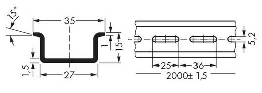 WAGO 210-197 Stalen draagrail 10 stuks