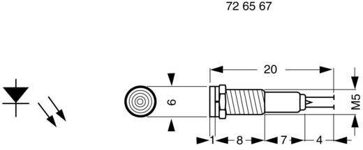 BD-0503 LED-signaallamp Rood 9 V/DC, 15 V/DC