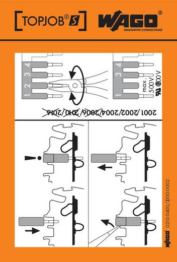 WAGO 210-400/2000-002 Onderhoudslabels 100 stuks