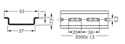 WAGO 210-504 Stalen draagrail 1 stuks