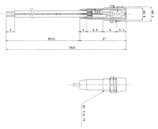 Miniatuur signaallamp 230 V~ Rood Sedeco Inhoud: 1 stuks