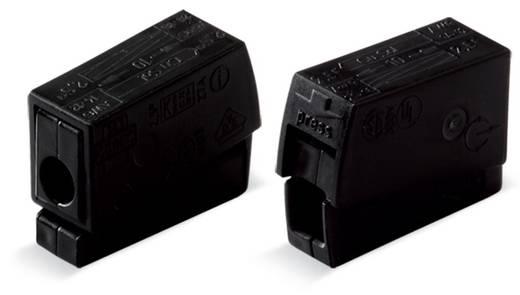 WAGO 224-104 Lampklem Flexibel: 0.5-2.5 mm² Massief: 0.5-2.5 mm² Aantal polen: 2 100 stuks Zwart