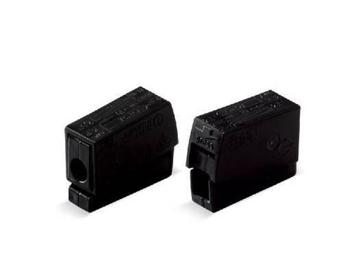WAGO Lampklem Flexibel: 0.5-2.5 mm² Massief: 0.5-2.5 mm² Aantal polen: 2 100 stuks Zwart