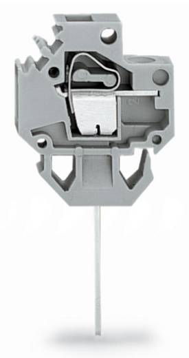 Veerkachtklemblok 4.00 mm² Aantal polen 1 MFTTB 4 MM2 WRAP 1X1 F.PLATE 2,5 MM WAGO Grijs 150 stuks