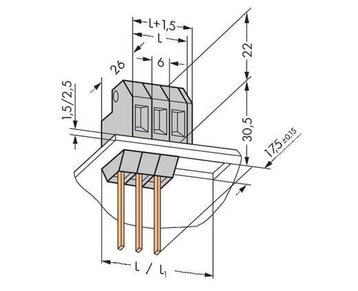 Veerkachtklemblok 4.00 mm² Aantal polen 1 226-103 WAGO Grijs 150 stuks
