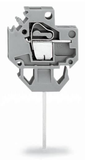 Veerkachtklemblok 4.00 mm² Aantal polen 1 WAGO Grijs 150 stuks