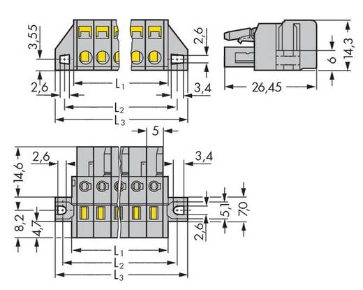 Busbehuizing-kabel 231 Totaal aantal polen 23 WAGO 231-123/031-000 Rastermaat: 5 mm 10 stuks