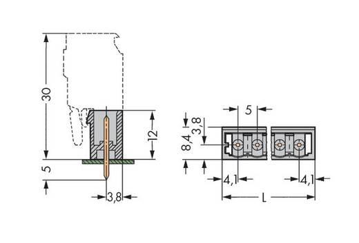 Male header (standaard) 300 Totaal aantal polen 4 WAGO 231-134/001-006 Rastermaat: 5 mm 200 stuks