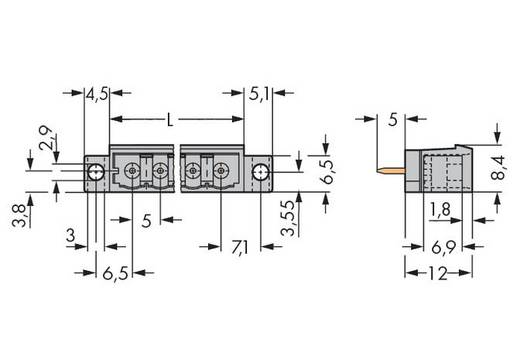 Male header (standaard) 300 Totaal aantal polen 14 WAGO 231-144/046-000 Rastermaat: 5 mm 50 stuks