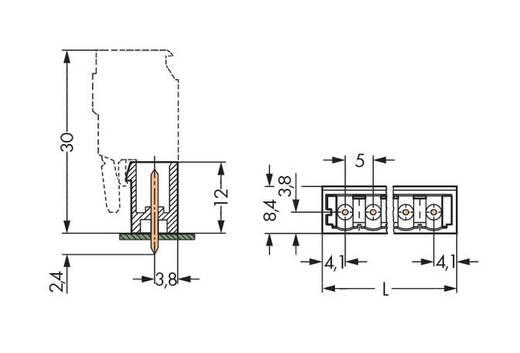 WAGO 231-134/001-000/105-604 Male header (standaard) 300 Totaal aantal polen 4 Rastermaat: 5 mm 200 stuks