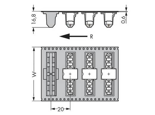 Male header (standaard) 300 Totaal aantal polen 8 WAGO 231-138/001-000/105-604/997-40 Rastermaat: 5 mm 170 stuks