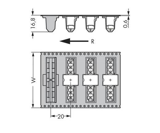 Male header (standaard) Totaal aantal polen 8 WAGO 231-168/