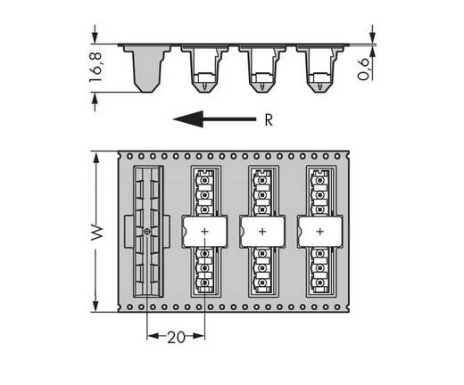 WAGO 231-168/001-000/105-604/997-40 Male header (standaard) 300 Totaal aantal polen 8 Rastermaat: 5 mm 170 stuks