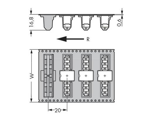 WAGO 231-169/001-000/105-604/997-40 Male header (standaard) 300 Totaal aantal polen 9 Rastermaat: 5 mm 170 stuks