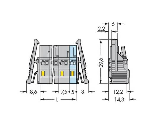 WAGO 231-204/037-000 Busbehuizing-kabel 231 Totaal aantal polen 4 Rastermaat: 7.50 mm 50 stuks
