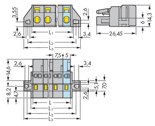 WAGO 231-206/031-000 Busbehuizing-kabel 231 Totaal aantal polen 6 Rastermaat: 7.50 mm 25 stuks
