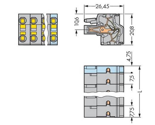 Busbehuizing-kabel 231 Totaal aantal polen 6 WAGO 231-2206/026-000 Rastermaat: 7.50 mm 50 stuks