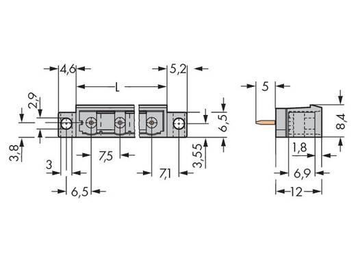 Male header (standaard) 300 Totaal aantal polen 10 WAGO 231-240/040-000 Rastermaat: 7.50 mm 25 stuks