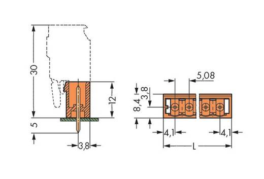 WAGO 231-372/001-000 Male header (standaard) 300 Totaal aantal polen 12 Rastermaat: 5.08 mm 100 stuks