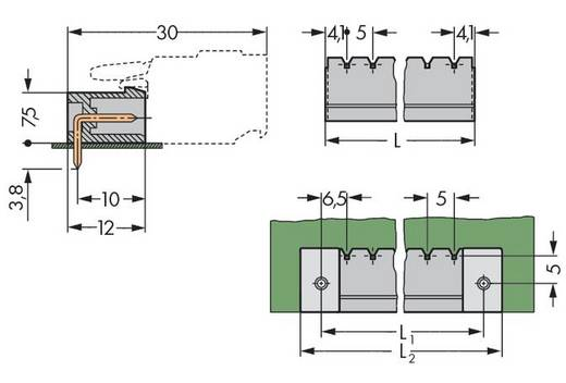 Male header (standaard) 300 Totaal aantal polen 11 WAGO 231-471/001-000 Rastermaat: 5 mm 100 stuks