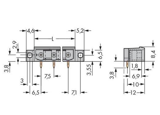 WAGO 231-466/040-000 Male header (standaard) 300 Totaal aantal polen 6 Rastermaat: 5 mm 100 stuks