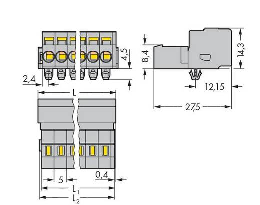 WAGO 231-619/018-000 Male header (standaard) 300 Totaal aantal polen 19 Rastermaat: 5 mm 10 stuks
