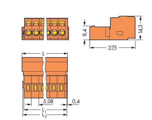 Male header (standaard) 300 Totaal aantal polen 21 WAGO 231-651 Rastermaat: 5.08 mm 10 stuks