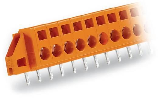 Veerkachtklemblok Aantal polen 6 FEEDTHROUGH T.B.W.SOLD.FLANGE 5,08MM WAGO Oranje 50 stuks