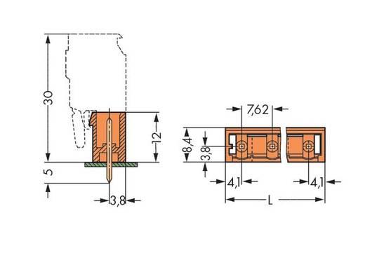Male header (standaard) 300 Totaal aantal polen 6 WAGO 231-766/001-000 Rastermaat: 7.62 mm 100 stuks