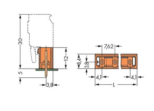WAGO 231-766/001-000 Male header (standaard) 300 Totaal aantal polen 6 Rastermaat: 7.62 mm 100 stuks