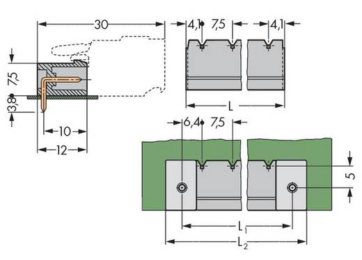 WAGO 231-839/001-000 Male header (standaard) 300 Totaal aantal polen 9 Rastermaat: 7.50 mm 50 stuks