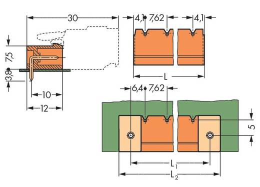 WAGO 231-939/001-000 Male header (standaard) 300 Totaal aantal polen 9 Rastermaat: 7.62 mm 50 stuks