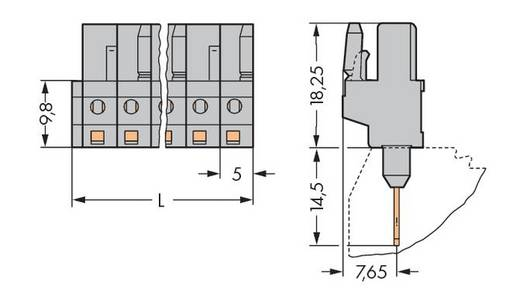 WAGO 232-138/005-000 Busbehuizing-board 232 Totaal aantal polen 8 Rastermaat: 5 mm 50 stuks