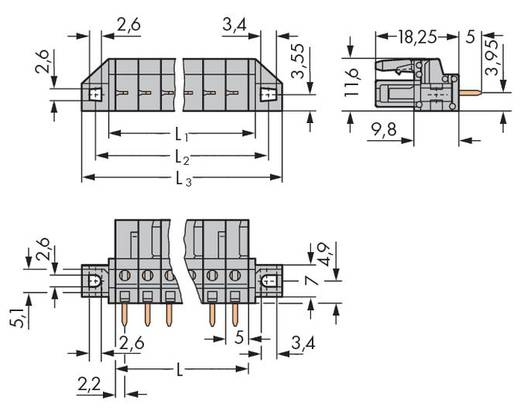 WAGO 232-143/031-000 Busbehuizing-board 232 Totaal aantal polen 13 Rastermaat: 5 mm 25 stuks