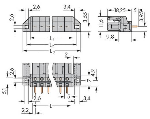 Busbehuizing-board 232 Totaal aantal polen 13 WAGO 232-143/047-000 Rastermaat: 5 mm 25 stuks