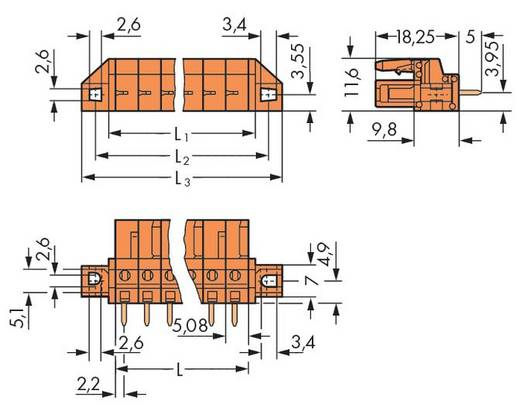 WAGO 232-166/031-000 Busbehuizing-board 232 Totaal aantal polen 6 Rastermaat: 5.08 mm 50 stuks
