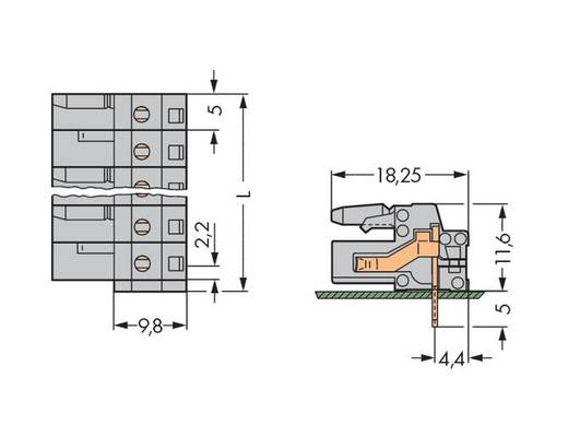 Busbehuizing-board 232 Totaal aantal polen 19 WAGO 232-249 Rastermaat: 5 mm 10 stuks