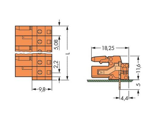 Busbehuizing-board 232 Totaal aantal polen 6 WAGO 232-266 Rastermaat: 5.08 mm 50 stuks