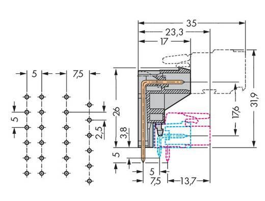 Male header (standaard) 301 Totaal aantal polen 7 WAGO 232-337 Rastermaat: 5 mm 50 stuks