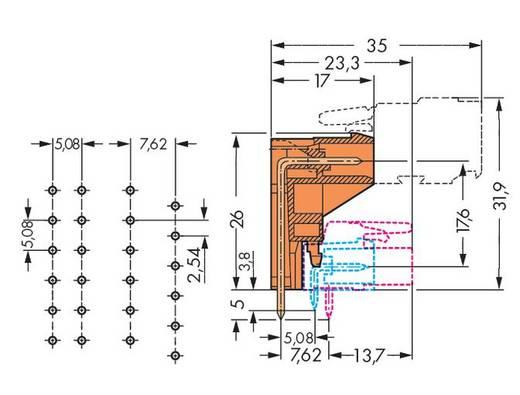 Male header (standaard) Totaal aantal polen 8 WAGO 232-368<
