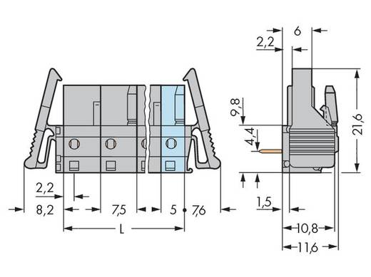 WAGO 232-833/039-000 Busbehuizing-board 232 Totaal aantal polen 3 Rastermaat: 7.50 mm 50 stuks